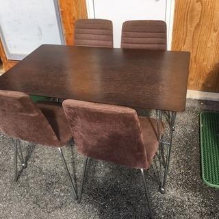 配達可 ダイニングテーブル チェア 5点 セット 食卓
