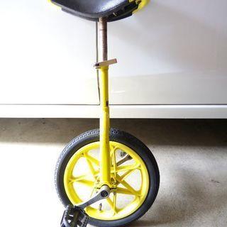 一輪車◆黄色◆ジャンク