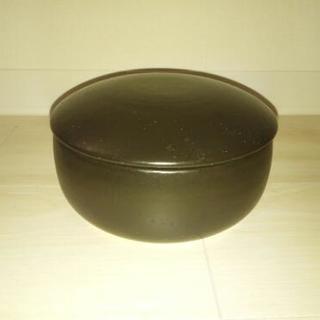 萬古焼 黒釉 おひつ鉢 2合