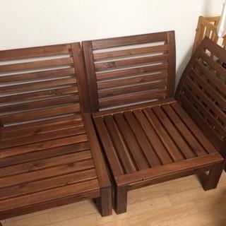 IKEA 木製ソファ
