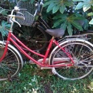 自転車 (赤) 【ジャンク品】