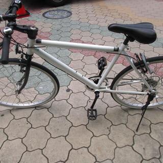 6段変速クロスバイク 26インチ ホワイト