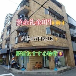 敷金礼金0円❣️ 駅近🚶即入居可🙆1DK物件✨
