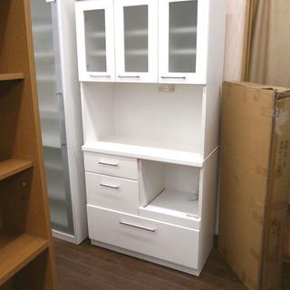 札幌 引き取り 白 キッチンボード/キッチン収納 食器棚 セパレー...