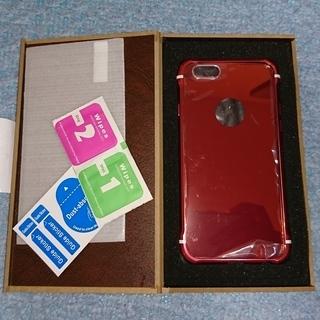 【開封未使用!全部赤!】iPhone6・6s用液晶ガラスフィルム・...