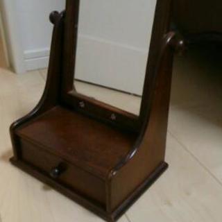 【値下げ】木製 卓上 ミラー