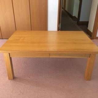無印良品 無垢材 テーブル ローデスク!
