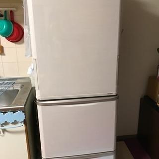 シャープ 350L 両開き冷蔵庫