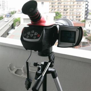 カメラとビデオレコーダー機能付き天体望遠鏡