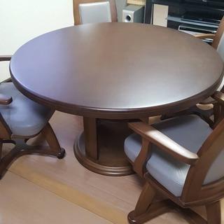 ダイニング5点セット 丸テーブル 椅子4脚