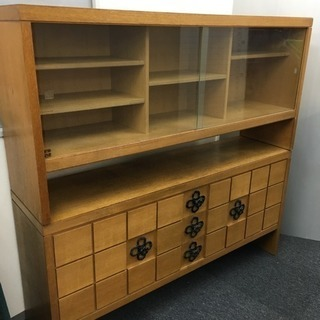 食器棚 飾棚 アンティーク 木製