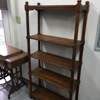 木製ラック 本棚 飾棚 アンティーク