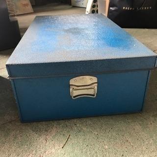 ブルー レトロな収納ケース