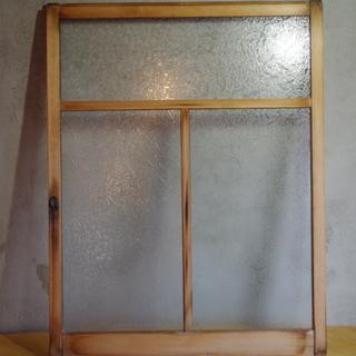 雪の結晶スリガラスの窓