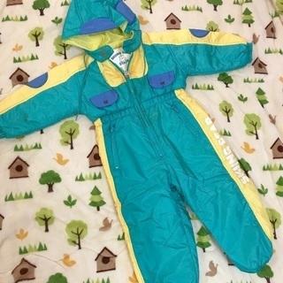 スキー スノボ ウェア 子供 キッズ 緑 95サイズ