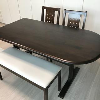 日本製☆天然木ダイニングテーブルセット