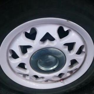 ホイール&スタッドレスタイヤセット ハートフル ピンク 廃盤レア