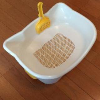 猫用システムトイレ(中古)と猫砂のセット