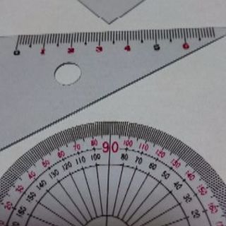 三角定規、分度器セット