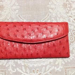 ★CNDオーストリッチ長財布赤色