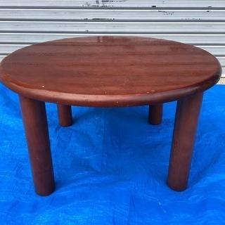 木製 ちゃぶ台 座卓 円形 直径60cm×33cm