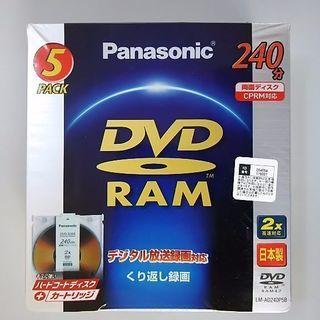 未開封 Panasonic DVD-RAM カートリッジ 両面...