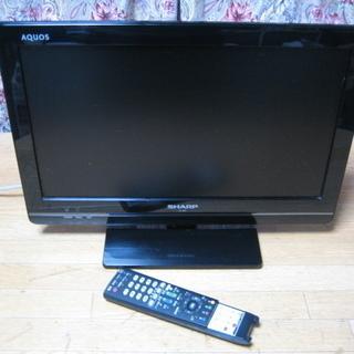 シャープ19型液晶テレビ アクオス2011年 中古