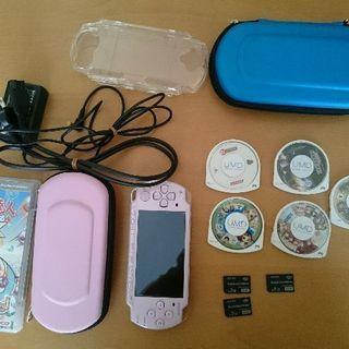 PSP-2000 ソフト6本付き。