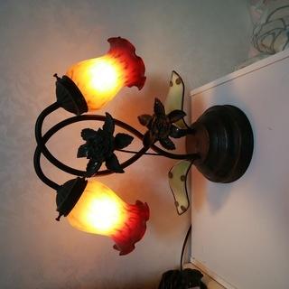 訳あり家具 アールヌーボー エミールガレ風 タッチで点灯 照明