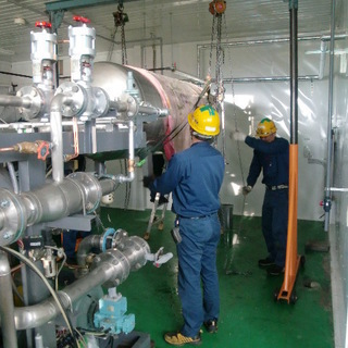 工場などへの産業機器の設置作業助成