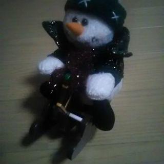 ロッキングスノーマン(クリスマス用品)♪