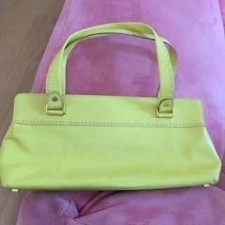 美品ケイトスペード yellowハンドバッグ