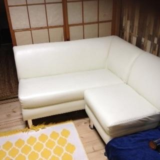 ★取引中★美品 合皮の白いソファーセット