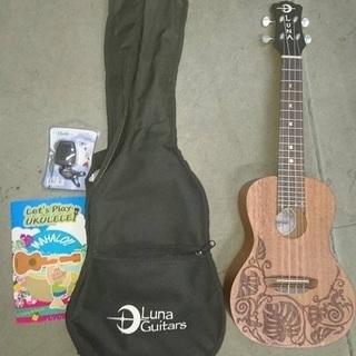 コンサートウクレレ ルナギターズ  4弦 (ミニギター)チューナー...