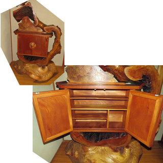 天然木 収納棚 置物 飾り棚 世界で1点のみ 製作者所有品 幅12...