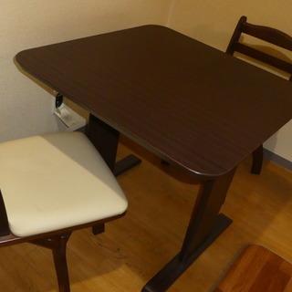 中古ダイニングテーブル&椅子(2人用)【取りに来てくれる方】
