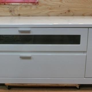 W約1200mm ホワイトテレビボード 中古品