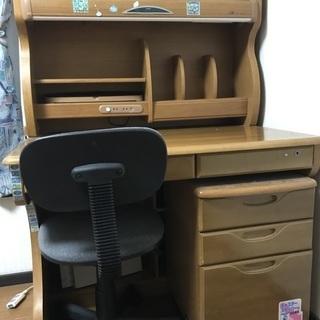 ◆ 子供用 学習机 木製 椅子付き ② ◆