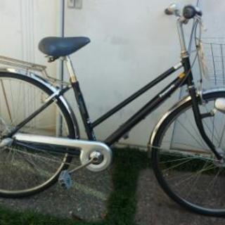 通学用自転車 黒