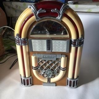 サン商事 / SUNDOG SDC-500 ジュークボックス 型ラジオ / カセットデッキ付き AM/FM ラジオ / アンティーク調 アーチ型 ラジオ / 中古品 - 札幌市
