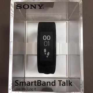 【新古品】SONY製SmartBand Talk SWR30 黒【...