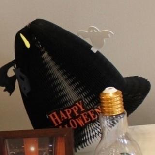 お値下げ!ハロウィン装飾*折りたたみ魔女帽子 風船付き