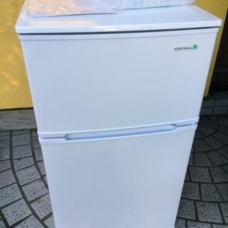 美品 ヤマダ電機オリジナル 冷蔵庫 YRZ-C09B1 90L 2...