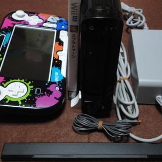 Wii u 本体 プレミアムセット 32GB ブラック スプラト...