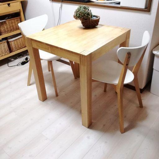 Ikeaダイニングテーブル二人掛け ぽんぽん 練馬のテーブルダイニング