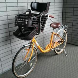 子供乗せ自転車  前チャイルドシート付き 三人乗り対応