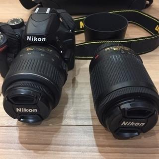 デジタル一眼レフ カメラ ニコン D3200 ダブルレンズ wif...