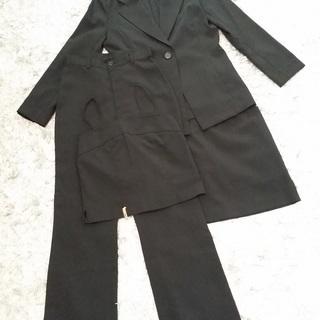 お値下げしました■レディース■ワンボタンスーツ■黒■パンツ、スカー...