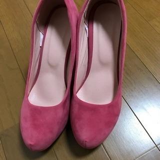 新品 パンプス ピンク