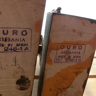 スペインOURO社VTG No.248-1A,1B 木彫りドンキホーテとサンチョパンサ  ヴィンテージ ビンテージ スペイン製彫刻 Rare Vintage OURO ARTESANIA DON QUIJOTE&SANCHO PANZA Wood Carving No.248-1A,1B  DON QUIXOTE Made in Spain - 売ります・あげます